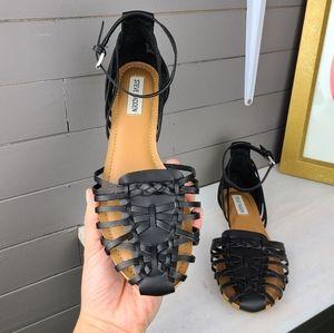 Steve Madden Shoes - Steve Madden Mory Faux Leather Flat Sandals